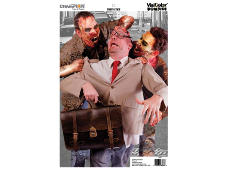 """Champion Zombie Street Attack Target 24"""" x 45"""" Paper Package of 10"""