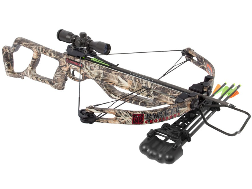 Parker Enforcer Crossbow Package with Multi Reticle Illuminated Crossbow Scope Realtree Max-4 Camo