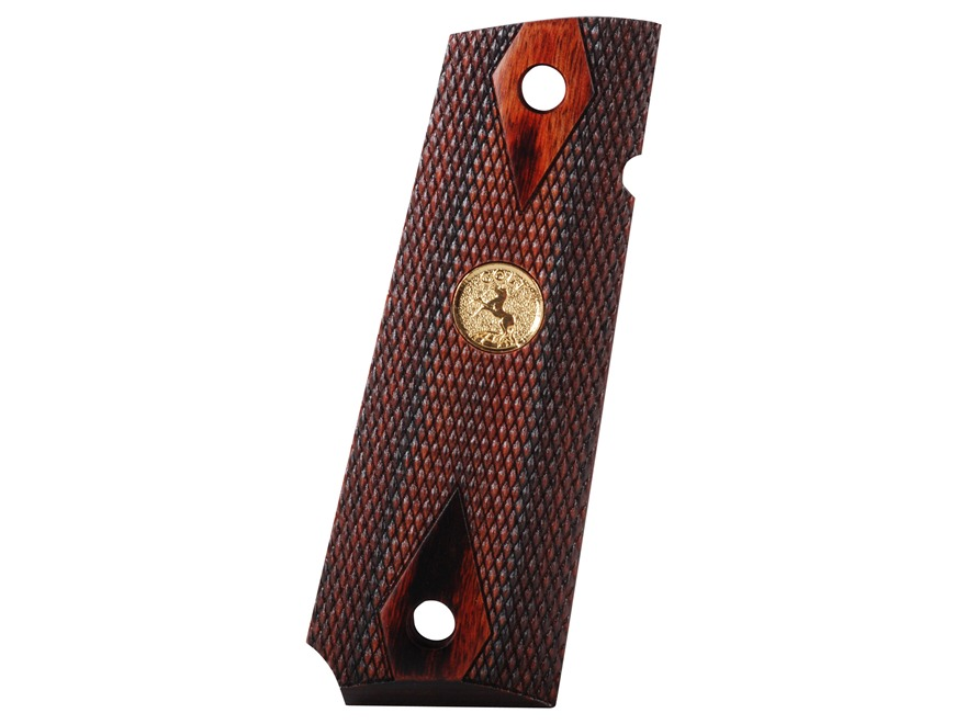 Colt Grips with Gold Colt Medallion 1911 Government, Commander Rosewood