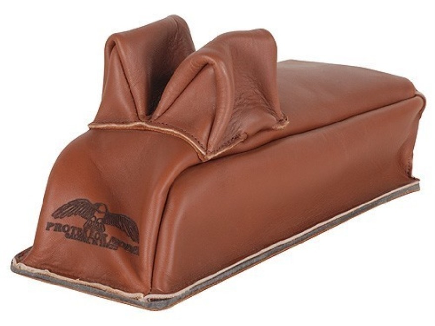 Protektor Rabbit Ear Loaf Rear Shooting Rest Bag Leather Tan Unfilled