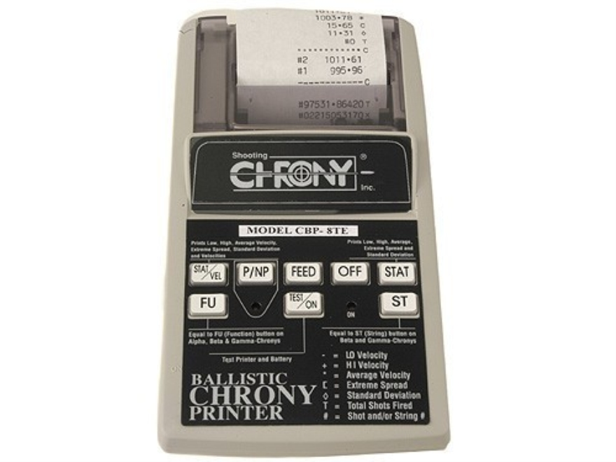 Shooting Chrony Ballistic Printer for Shooting Chrony Chronograph