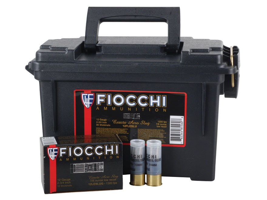 "Fiocchi Low Recoil Ammunition 12 Gauge 2-3/4"" 7/8 oz Aero Rifled Slug"