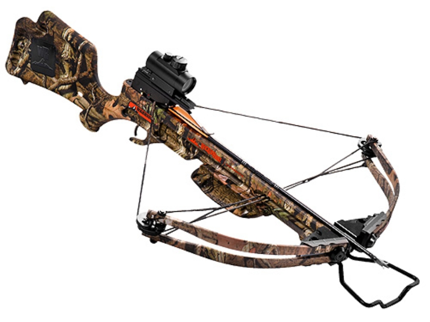 Wicked Ridge by TenPoint Warrior Crossbow Package with Ridge-Dot Red Dot Sight Mossy Oa...