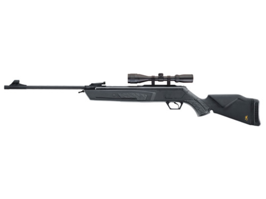 Browning Gold Air Rifle 177 Caliber Black Polymer Stock Blue Barrel with Airgun Scope 3-9x40mm Matte