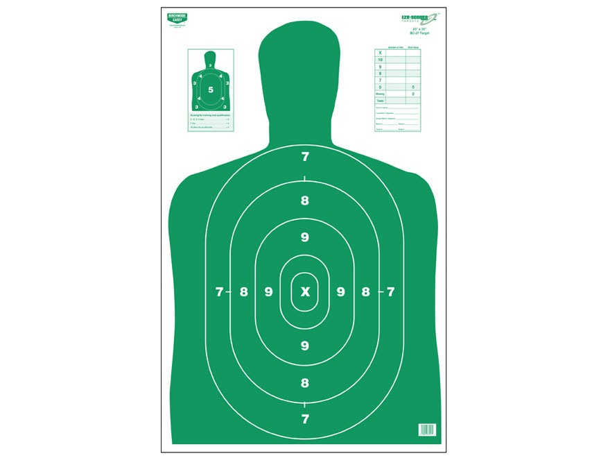 "Birchwood Casey Eze-Scorer BC27 Green Targets 23"" x 35"" Package of 5"