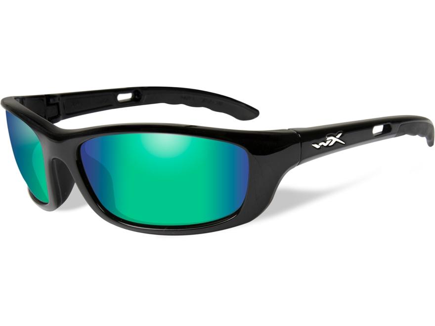 Wiley X P-17GM Polarized Sunglasses Emerald Mirror Lens