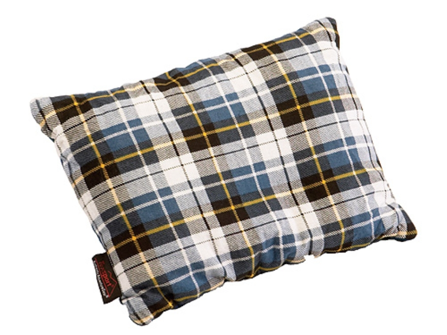 "Texsport Camp Pillow 10"" x 20"" Cotton Flannel Plaid"