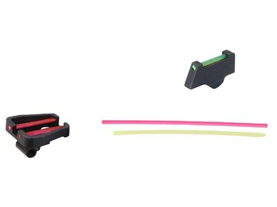 "Cylinder & Slide Adjustable Sight Set S&W K, L, N-Frame with Adjustable Sights .300"" Height Improved Ramp Front Steel Blue Fiber Optic Interchangeable Green, Red"