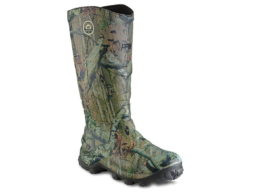 "Irish Setter Rutmaster RPM 17"" Waterproof 400 Gram Insulated Hunting Boots Rubber Mossy Oak Break-Up Infinity Camo Men's"