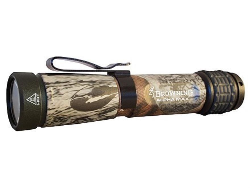 Browning Tactical Hunter Alpha Max Flashlight White LED Aluminum Mossy Oak Break-Up Camo