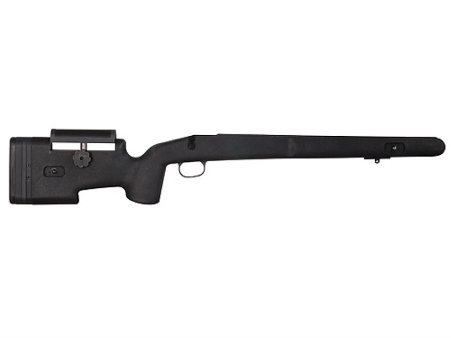 Choate Custom Tactical Rifle Stock Savage 110 Long Action Staggered Feed with Adjustable Length of Pull and Cheek Rest Varmint Barrel Channel Composite Black