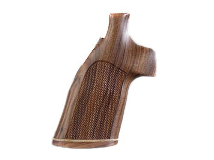Hogue Fancy Hardwood Conversion Grips with Accent Stripe S&W N-Frame Round to Square Butt Checkered