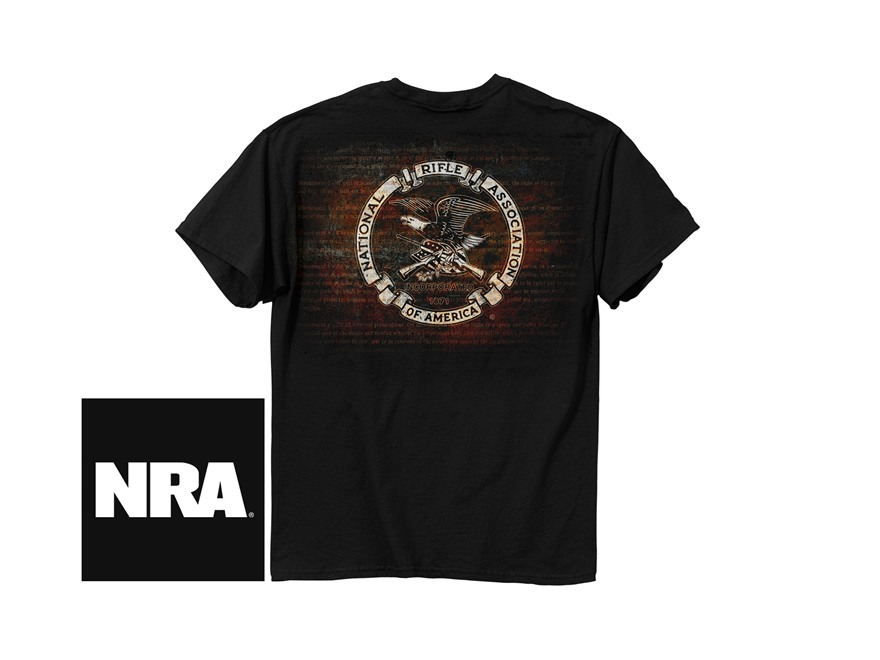 NRA Men's Amendment Logo Short Sleeve T-Shirt