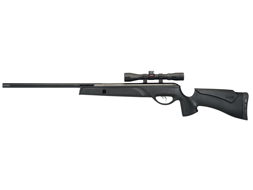 Gamo Big Cat 1400 Air Rifle 177 Caliber Pellet Black Synthetic Stock Blued Barrel with 4x32mm Scope
