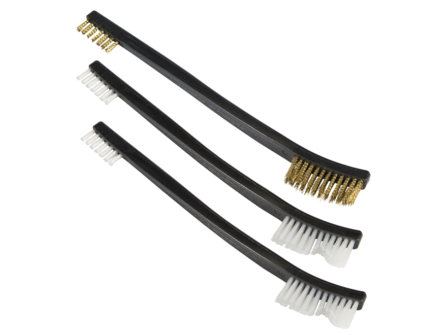 Tipton Gun Cleaning Brush Double Ended Nylon and Bronze Package of 3