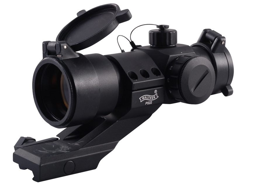 Walther PS 22 Tactical Red Dot Sight 30mm Tube 1x 5 MOA Dot with Picatinny-Style Mount ...