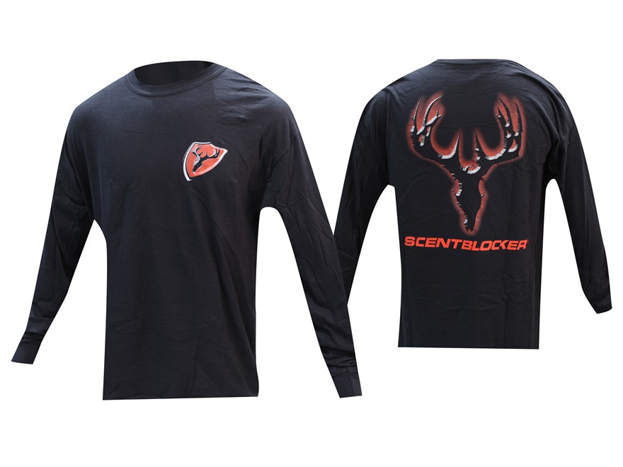 Scent Blocker Halo Red Logo T-Shirt Long Sleeve