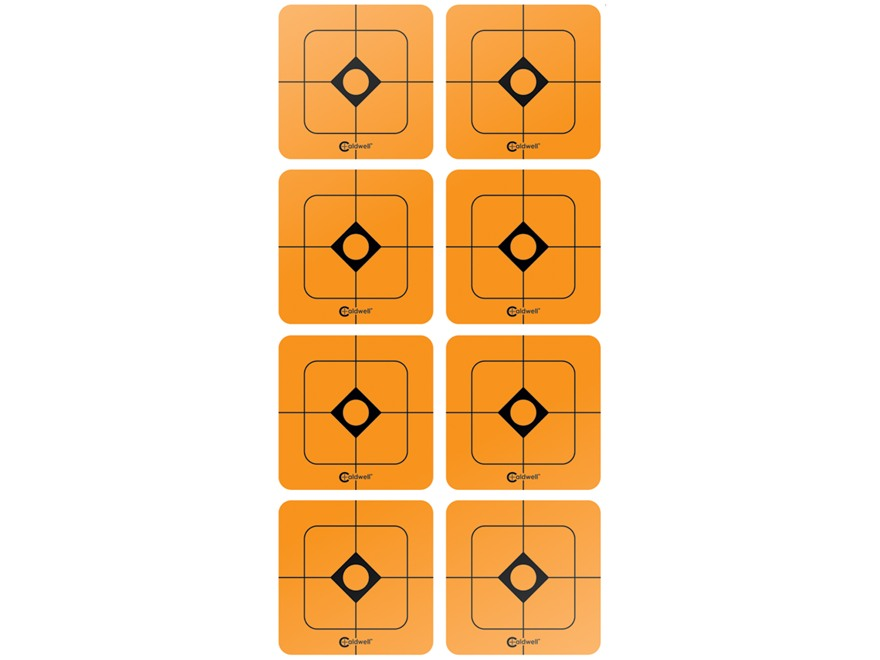 "Caldwell Shooting Squares 1-1/2"" Pack of 12 Sheets 8 Squares per Sheet Orange"