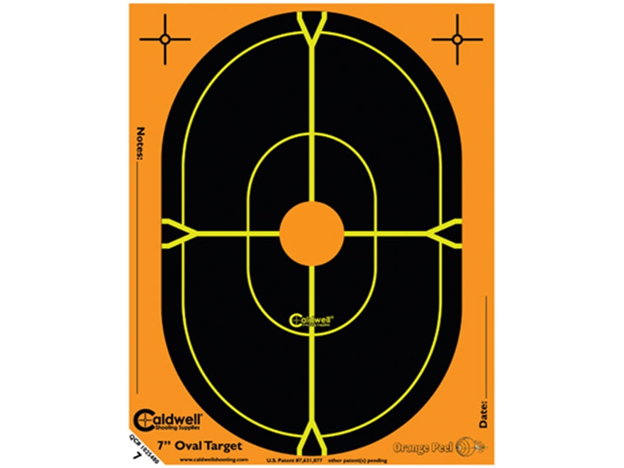 "Caldwell Orange Peel Targets 7"" Self-Adhesive Silhouette Package of 10"