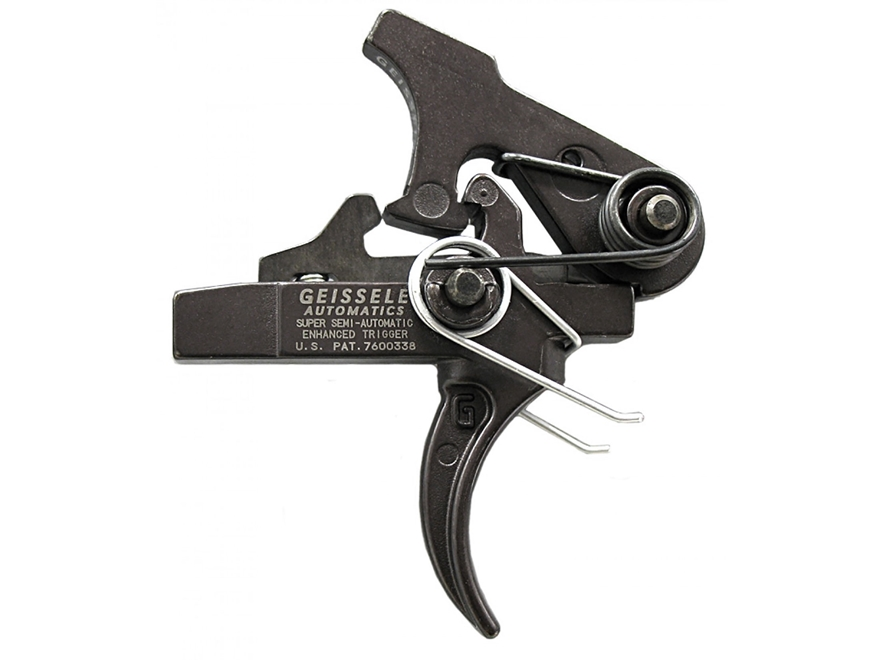 "Geissele SSA-E Super Semi Automatic Enhanced Trigger Group AR-15, LR-308 Small Pin .154"" Two Stage Matte"