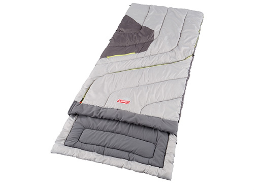 "Coleman Comfort Control Big and Tall 30-70 Degree Sleeping Bag 36"" x 84"" Polyester Gree..."