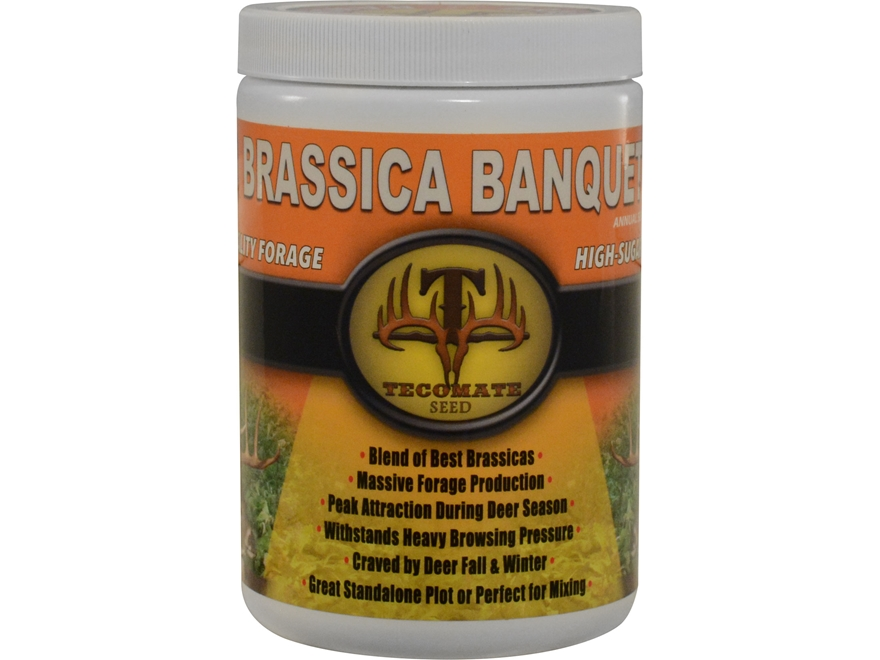 Tecomate Brassica Banquet Pounder Annual Food Plot Seed 1 lb