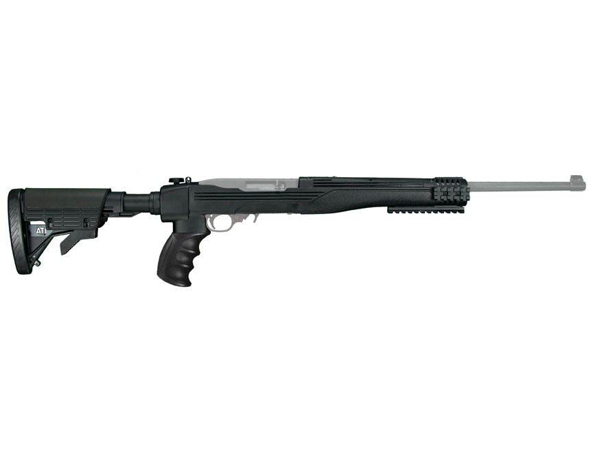 Advanced Technology Strikeforce 6-Position Collapsible Side Folding Rifle Stock with Scorpion Recoil System Ruger 10/22 Standard Barrel Channel Polymer Black