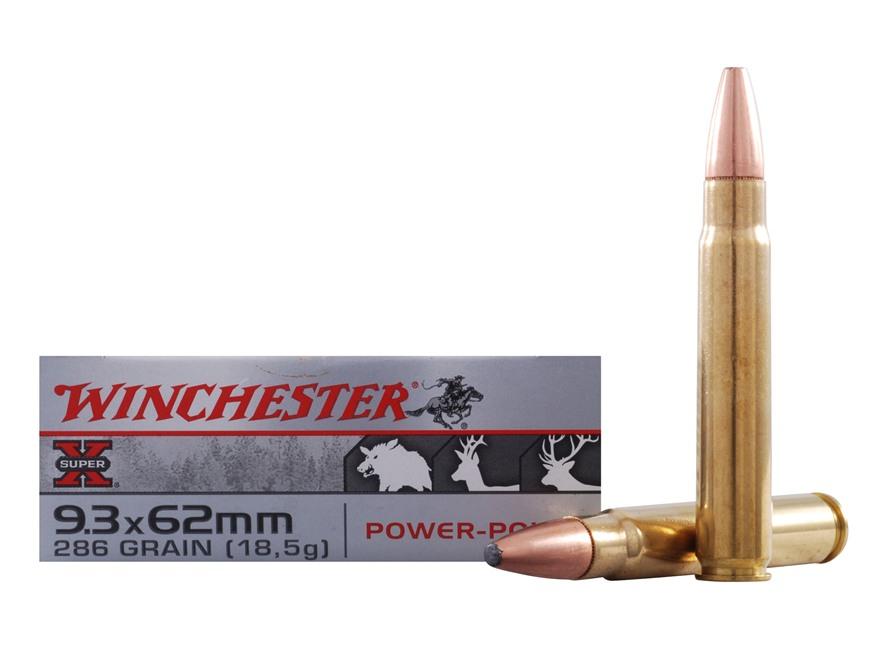 Winchester Super-X Ammunition 9.3x62mm Mauser 286 Grain Power-Point Box of 20