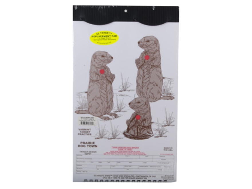 "EZ Target Prairie Dog Town Replacement Pad Target 11"" x 17"" Paper Package of 15"