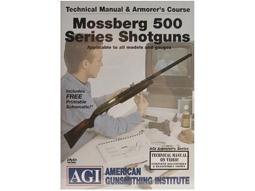 "American Gunsmithing Institute (AGI) Technical Manual & Armorer's Course Video ""Mossberg 500 Series Shotguns"" DVD"