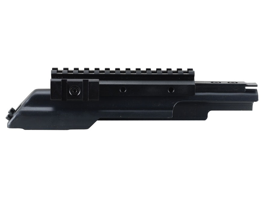 NcStar Tactical Weaver-Style Tri-Rail Mount with Adjustable Side Tabs AK-47 Matte