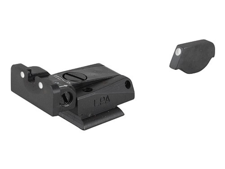 LPA SPR Sight Set Ruger P90, P91, P93, P94, P95, P97 Steel 3-Dot