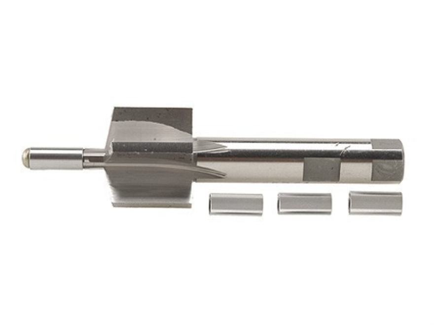 PTG 11-Degree Muzzle Crown Facing Tool with 22 Caliber to 6mm 4 Pilot Set (.217, .218, .219, .236)
