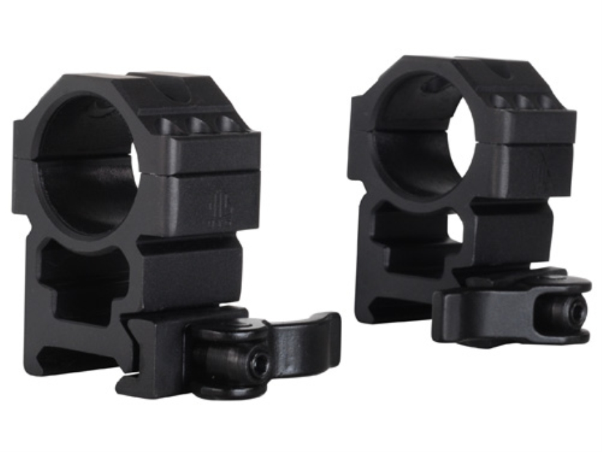 "Leapers UTG 1"" Max Strength Tactical 6-Hole Quick Detachable Picatinny-Style Rings Matte"