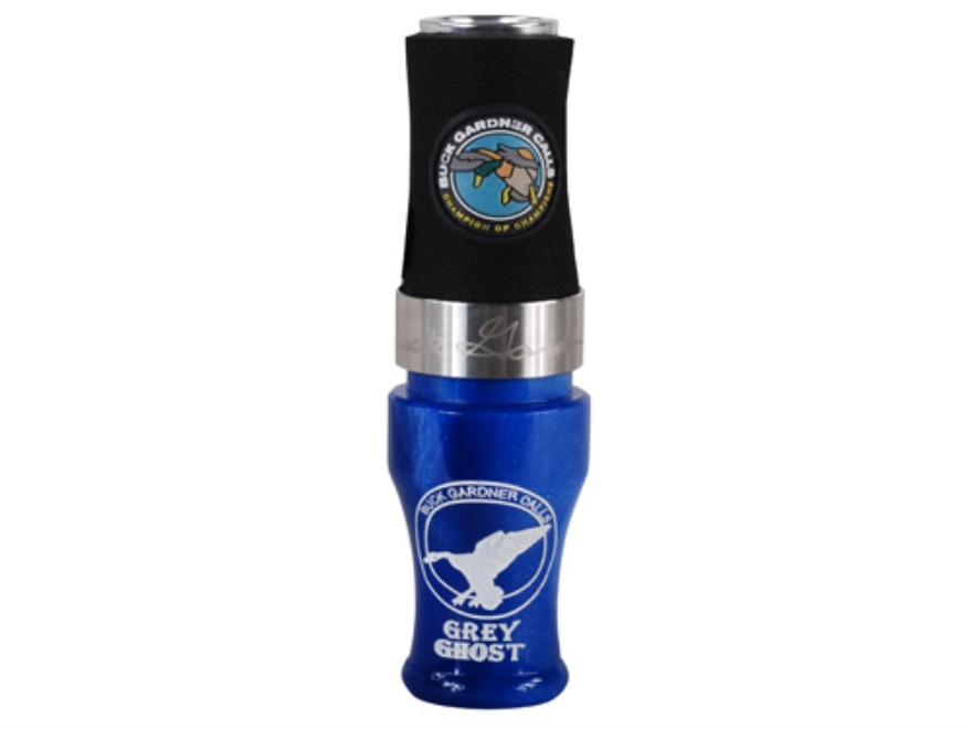 Buck Gardner Gray Ghost Acrylic with Aluminum Insert Duck Call Blue Pearl/Aluminum