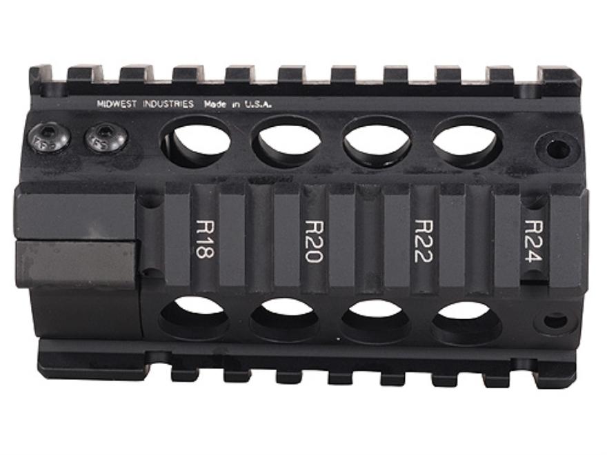 Midwest Industries Free Float Tube Handguard Quad Rail AR-15 Pistol Length Aluminum Black