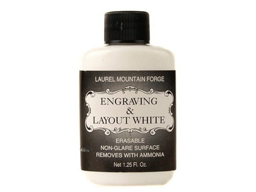 Laurel Mountain Engraving and Layout White 1-1/4 oz Liquid