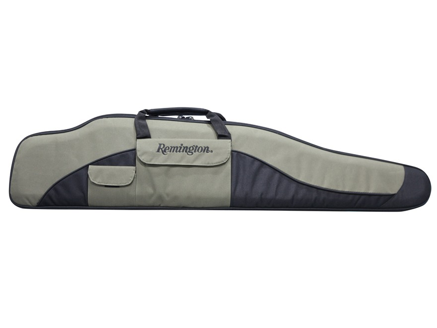 "Remington Premier Scoped Rifle Case 46"" Nylon Green and Black"