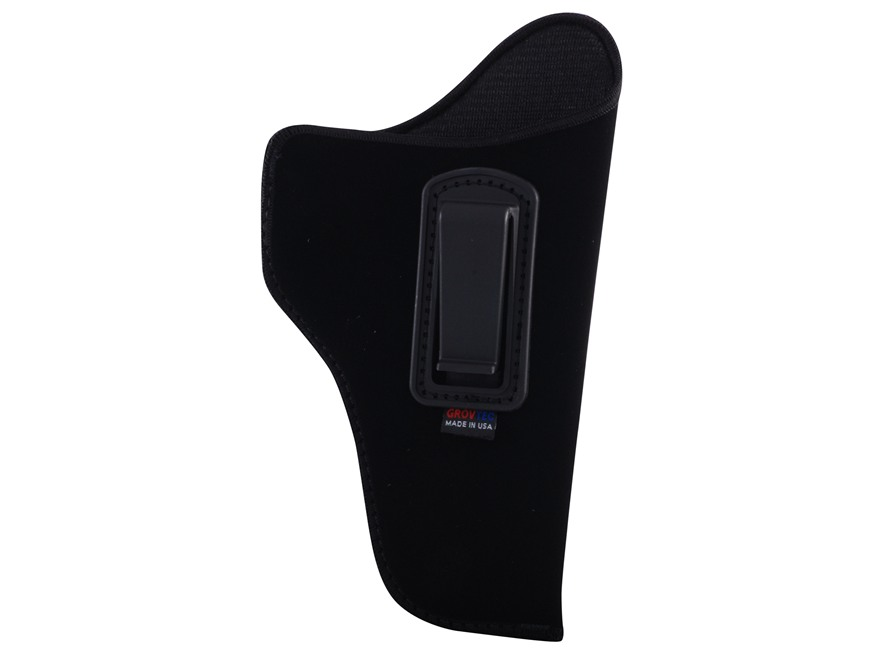 "GrovTec GT Inside the Waistband Holster Right Hand Size 2 for 3-4"" Barrel Medium and Large Frame Double Action Revolvers Nylon Black"