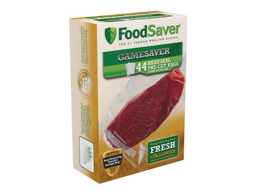 """FoodSaver Gamesaver Quart Size Vacuum Packaging Bags (8"""" x  11-1/2"""") Pack of 44"""