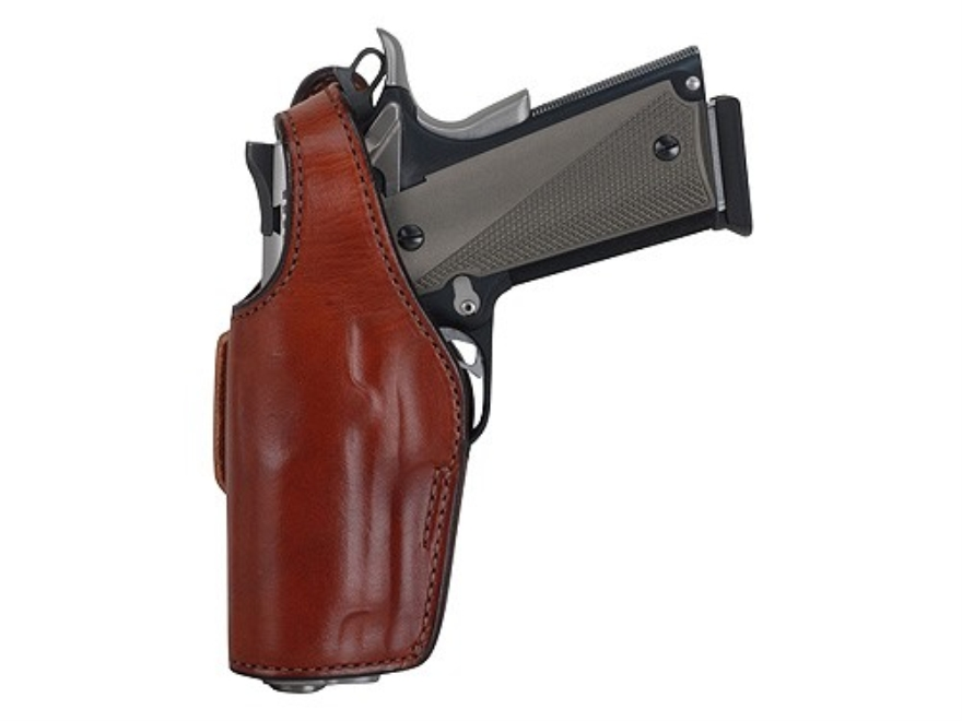 Bianchi 19L Thumbsnap Holster Glock 20, 21, S&W M&P Suede Lined Leather Tan