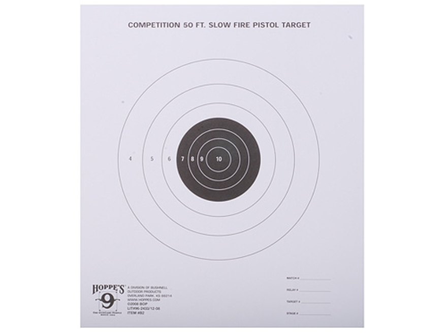 Hoppe's Slow Fire Target 50' Pistol Package of 20