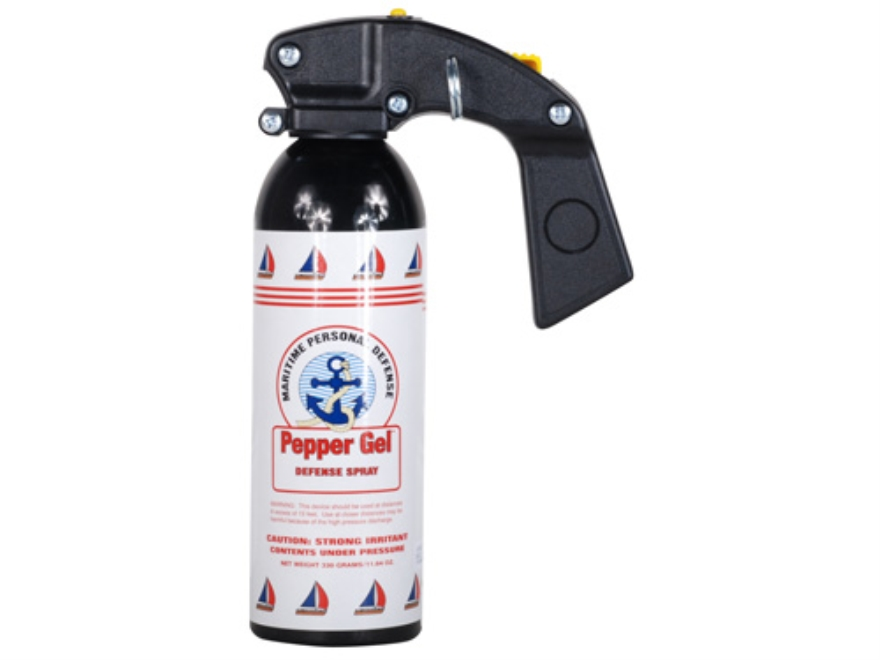 Mace Maritime Gel Pepper Spray 330 Gram Aerosol 10% OC Gel Plus UV Dye White