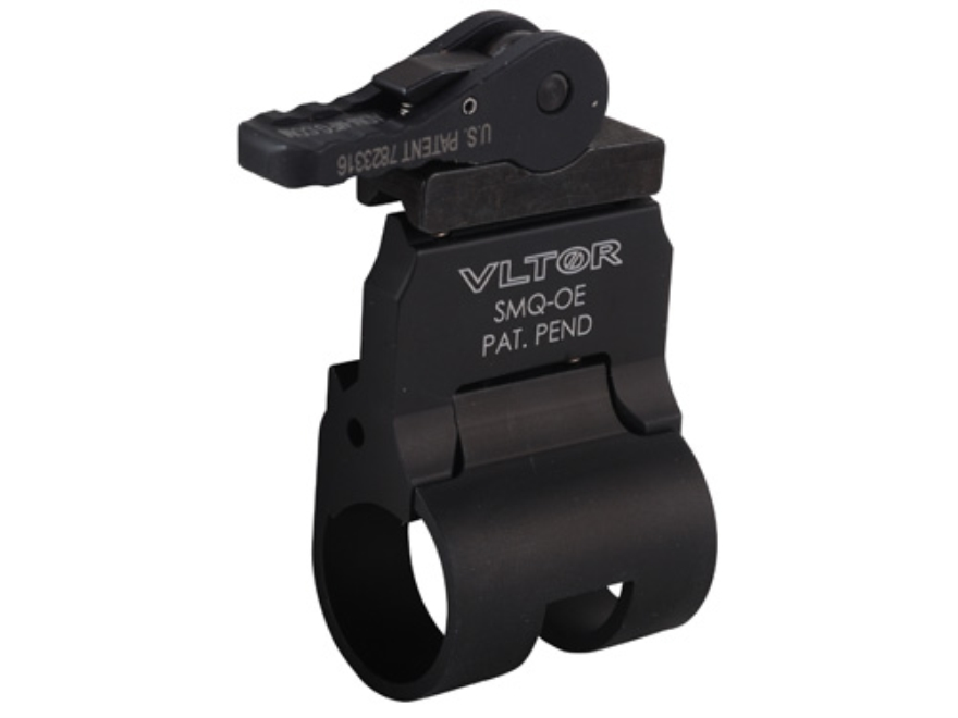 "Vltor QD Offset Picatinny Rail Scout Flashlight Mount with Quick Detach Throw Lever Surefire E-Series .803"" to .910"" Ring Diameter AR-15 Aluminum Matte"