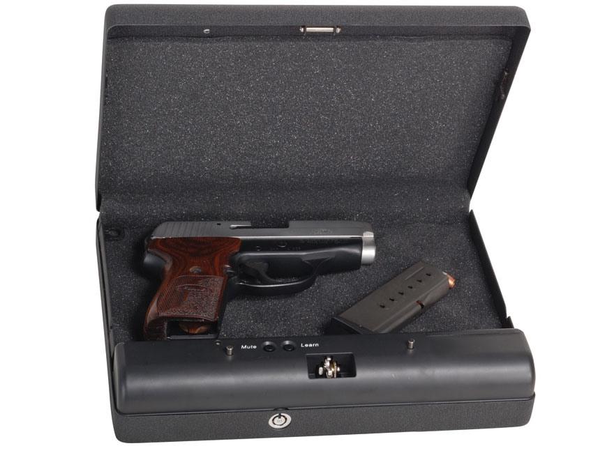 "GunVault MicroVault Personal Electronic Safe 11"" x 8"" x 2"" Black"
