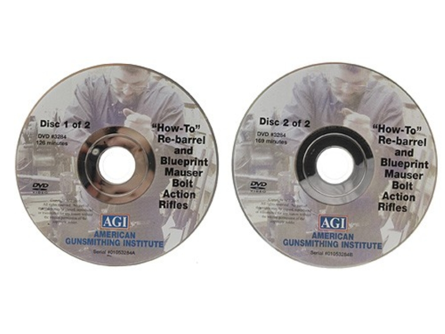 "American Gunsmithing Institute (AGI) Video ""How to Rebarrel, Tune and Blueprint Military Bolt Action Rifles"" 2 Volume Set DVD"