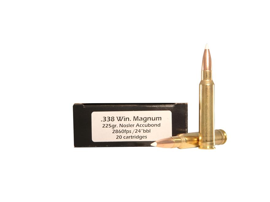 Doubletap Ammunition 338 Winchester Magnum 225 Grain Nosler AccuBond Spitzer Box of 20