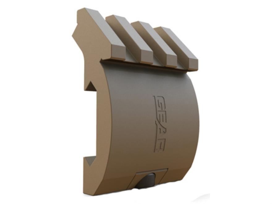 Gear Sector Low Profile Offset Picatinny Accessory Rail 3-Slot Aluminum Flat Dark Earth