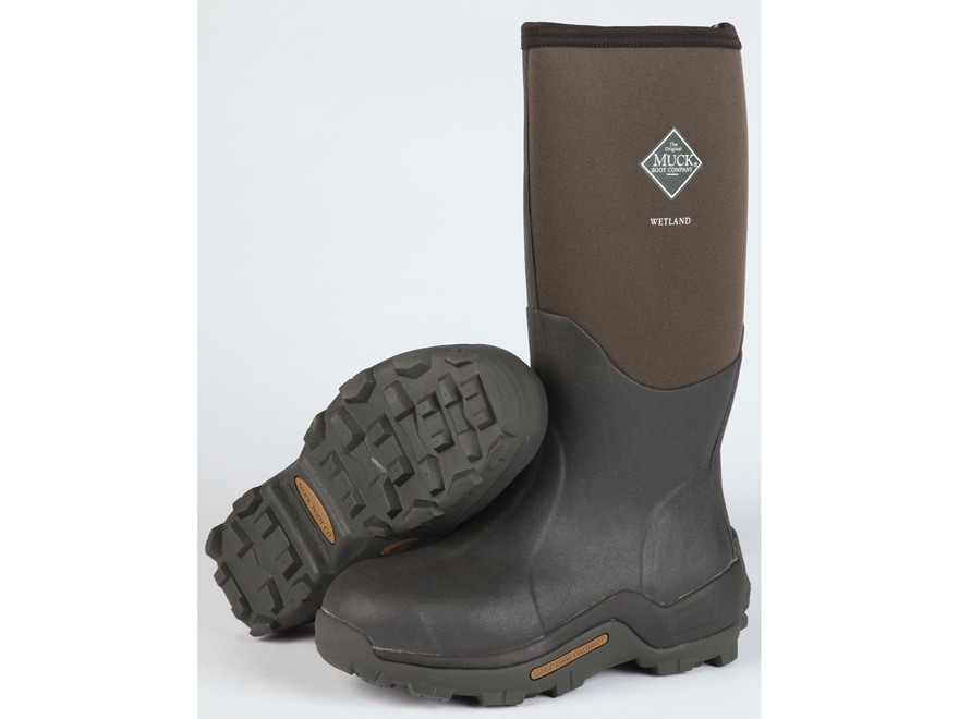 "Muck Wetland 16.5"" Waterproof Insulated Hunting Boots Rubber and Nylon Bark"