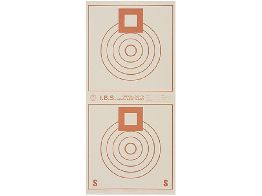 National Target International Bench Rest Shooters Target IBS 300 YD Bench Rest Paper Package of 100
